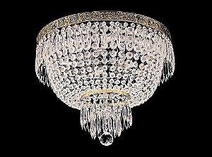 Plafon de Cristal Legitimo Italiano Imperio 6 lampadas aro duplo