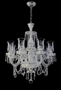 Lustre de Cristal legítimo asfour Maria Teresa 8 lâmpadas Cromado