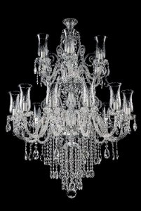 Lustre de Cristal legitimo asfour Maria Teresa Lapidado 18 lâmpadas - Amêndoa cromado