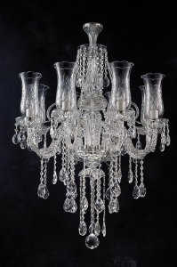 Lustre de Cristal legítimo asfour Maria Teresa  8 lâmpadas - cromado
