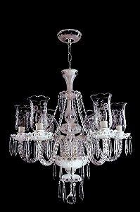 Lustre de Cristal legítimo asfour Maria Teresa 6 lampadas Cromado