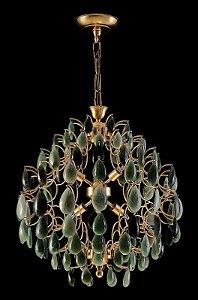 Lustre de Cristal de Rocha Strauss 6 lampadas  Dourado