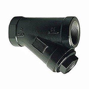 """Filtro Y 3/4"""" Aço Carbono Tela 0,8 mm"""