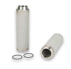 Elemento Filtrante Inox Sinterizado Vapor Culinário 1'' 1 Micra