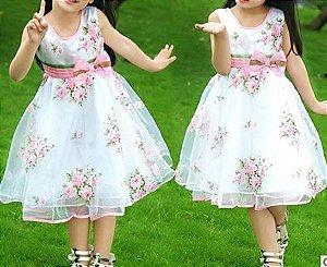 Vestido Floral - Tamanho 12