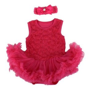 Bodysuit  Pink com Tiara - 0-3 meses