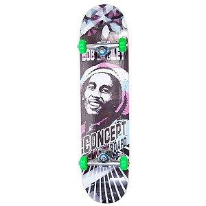 Skate Montado Shock Bob Marley