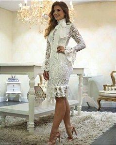 Vestido Guipir Ariane Canovas Off White