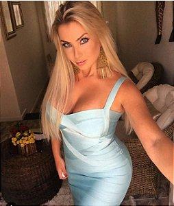 Vestido Bandage Azul Tiffany