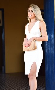 Vestido Crepe Midi Branco
