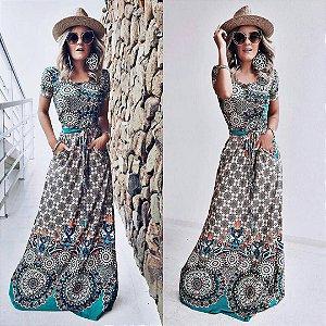 Vestido Longo - Bolsinho