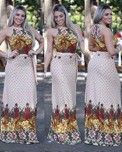 Vestido Longo  Barrado - Lançamento 2017
