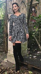 Vestido Curto  - Rodado
