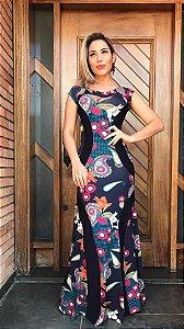Vestido Longo Faixa - Lançamento 2017
