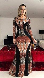 Vestido Longo cobra- Lançamento 2017