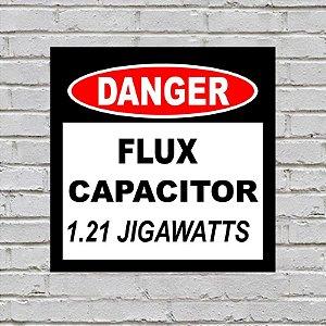 Placa de Parede Decorativa: Capacitor de Fluxo - ShopB