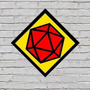 Placa de Parede Decorativa: Dado D20