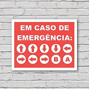 Placa de Parede Decorativa: Em Caso de Emergência - ShopB