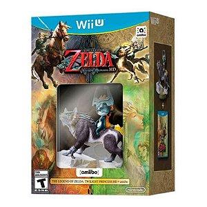 Jogo The Legend of Zelda: Twilight Princess HD + Amiibo Wolf Link - Wii U