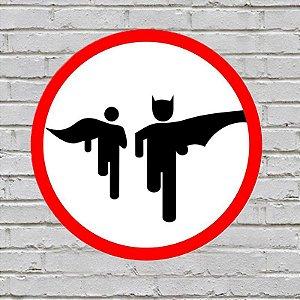 Placa De Parede Decorativa: Bat Run - ShopB
