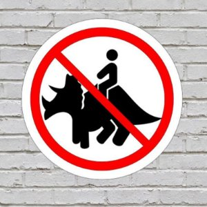 Placa De Parede Decorativa: Triceratops - ShopB