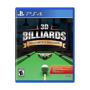 Jogo 3D Billiards - PS4