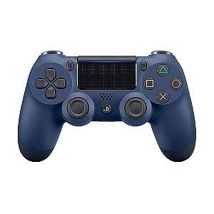 Controle Sony Dualshock 4 Midnight Blue sem fio (Com led frontal) - PS4