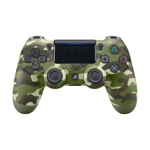 Controle Sony Dualshock 4 Green Camouflage sem fio (Com led frontal) - PS4