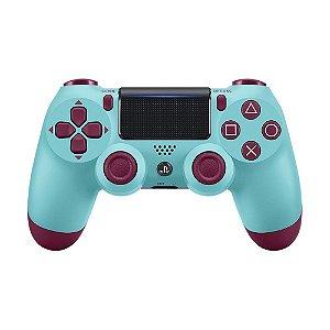 Controle Sony Dualshock 4 Berry Blue sem fio (Com led frontal) - PS4