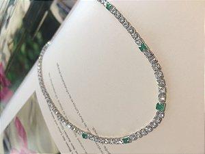 Choker cristal esmeralda