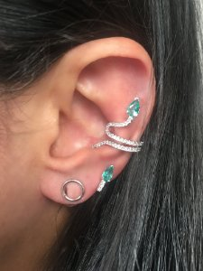 Brinco piercing serpente
