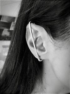 Brinco earcuff palito cravejado