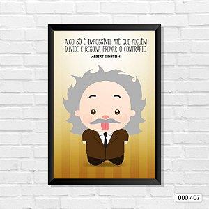 Quadro - Albert Einstein
