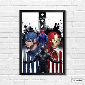 Quadro - Capitão America - Guerra Civil
