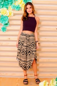 CROPPED CHEVRON