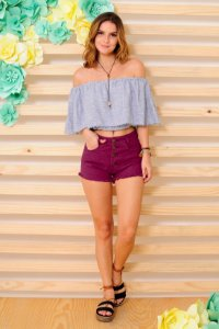 SHORT COLOR ROXO
