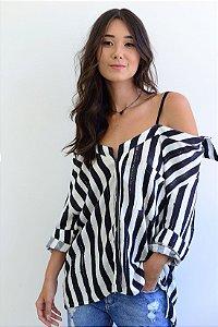 Camisa Listras Aquarela