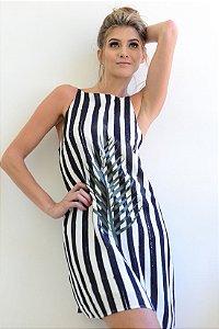 Vestido Listra Aquarela