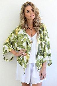 Kimono zíper Botânica