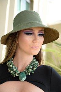 Chapéu com Proteção Solar Lotus Dupla Face