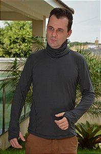 Camiseta e Gola Repelente a Insetos com Proteção Solar Masculina