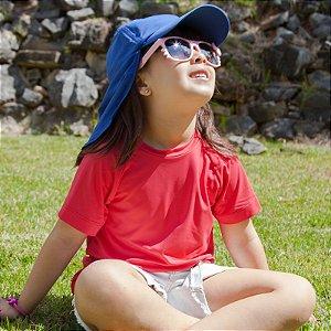 Camiseta com Proteção Solar Infantil Manga Curta