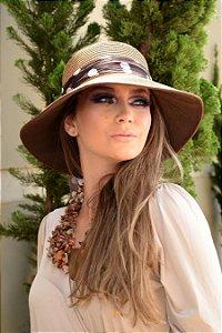 Chapéu de Palha com Proteção Solar Alexandria