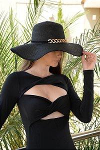 Chapéu de Palha com Proteção Solar Arabesque