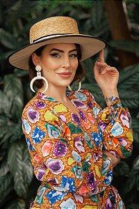 Chapéu de Palha com Proteção Solar Cairo