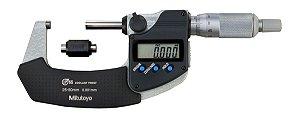 Micrômetro Externo Digital 25-50 mm 0,001mm Com Saída de Dados Proteção IP65 293-231-30