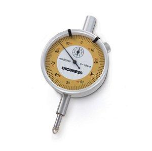 Relógio Comparador 10mm 0,01mm Digimess 121.304 BASIC