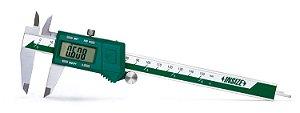 """Paquímetro Digital Fracionário 150mm/6"""" (Leitura 3 em 1) 0,01mm/0,0005 1/128"""" Insize 1102-150"""