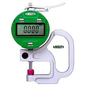 """Medidor de Espessura com Relógio Digital 0-10mm 0.001mm/0.00005"""" Insize 2871-101"""