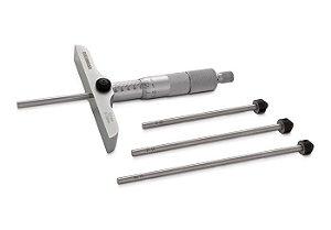 Micrometro de Profundidade Fixação Rosca Base 63mm 0-25/0,01mm Digimess 110.480